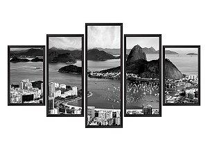Quadro Mosaico Rio de Janeiro em 5 partes