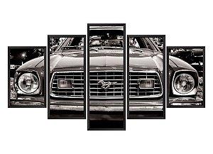 Quadro Mosaico Mustang em 5 partes