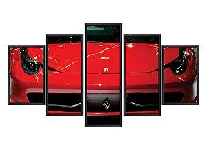 Quadro Mosaico Ferrari em 5 partes