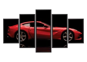 Quadro Mosaico Ferrari 3 em 5 partes