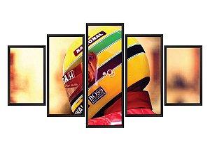 Quadro Mosaico Ayrton Senna 2 em 5 partes