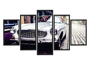 Quadro Mosaico Carro Vintage 2 em 5 partes
