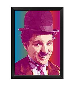 Quadro Charles Chaplin Poligonal