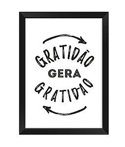 Quadro - Gratidão gera gratidão