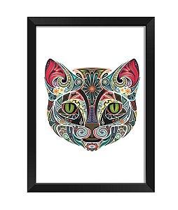 Quadro - Gato Poligonal