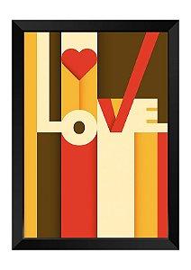Quadro - Abstrato Love