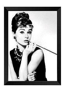 Quadro - Audrey Hepburn Clássico P&B