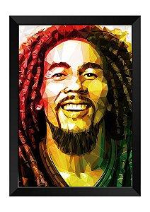 Quadro - Bob Marley Poligonal