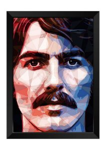 Quadro - George Harrison Beatles Poligonal