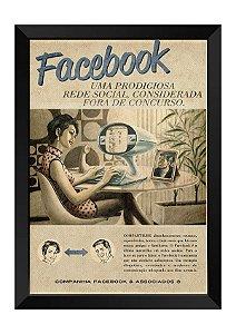 Quadro - Vintage Facebook