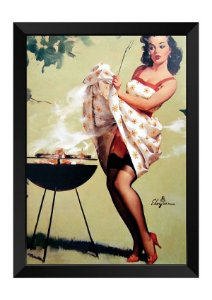Quadro - Vintage Pin-up Churrasco