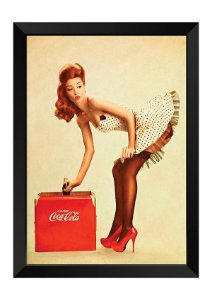 Quadro - Vintage Pin-up Coca-Cola