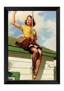 Quadro - Vintage Pin-up TV