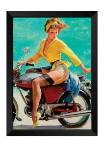 Quadro - Vintage Pin-up Motociclista