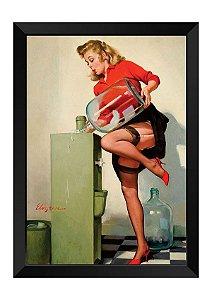 Quadro - Vintage Pin-up Secretária