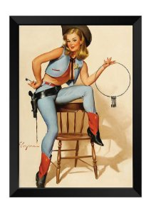 Quadro - Vintage Pin-up Cowboy