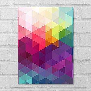 Placa Decorativa - Abstrato Colorful