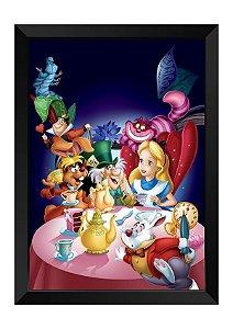 Quadro - Alice no País das Maravilhas Personagens