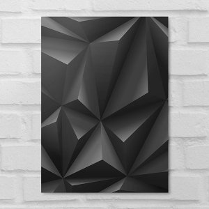 Placa Decorativa - Abstrato Blacks