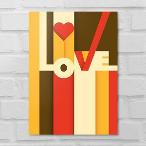 Placa Decorativa - Abstrato Love