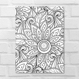 Placa Decorativa - Floral Traces