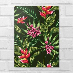 Placa Decorativa - Floral Tropical