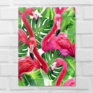 Placa Decorativa - Flamingos
