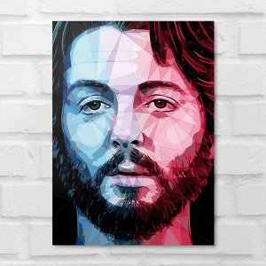 Placa Decorativa - Paul Mccartney Beatles Poligonal