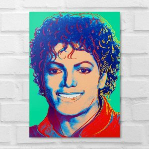 Placa Decorativa - Michael Jackson Colors
