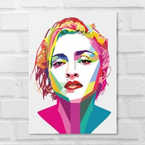 Placa Decorativa - Madonna Poligonal