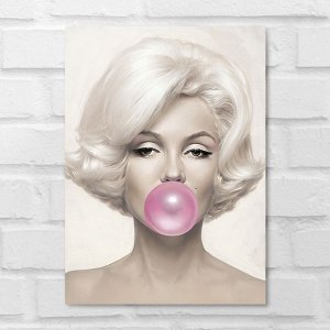 Placa Decorativa - Marilyn Monroe Chiclete