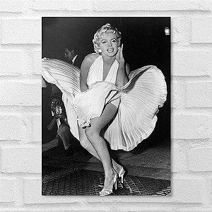 Placa Decorativa - Marilyn Monroe Clássico P&B