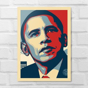 Placa Decorativa - Barack Obama Poster