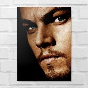 Placa Decorativa - Face Leonardo DiCaprio