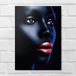 Placa Decorativa - Makeup Black Face