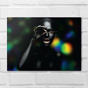 Placa Decorativa - Makeup Black Focus