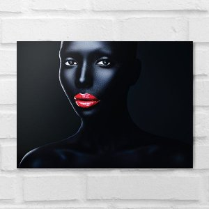 Placa Decorativa - Makeup Black Face 2