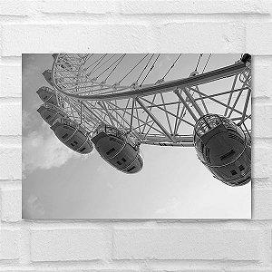 Placa Decorativa - Roda Gigante Londres
