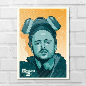 Placa Decorativa - Breaking Bad Jesse Pinkman Poster