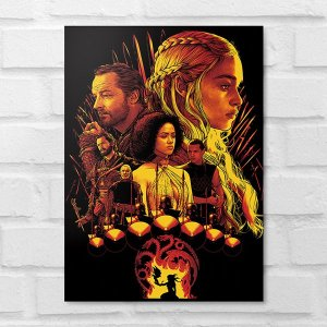 Placa Decorativa - Game of Thrones Poster