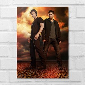 Placa Decorativa - Supernatural Dean e Sam