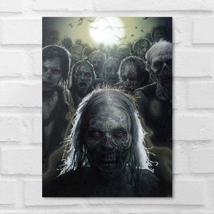 Placa Decorativa - The Walking Dead Zombies