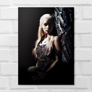 Placa Decorativa - Game of Thrones Daenerys Targaryen