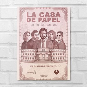 Placa Decorativa - La Casa de Papel Poster