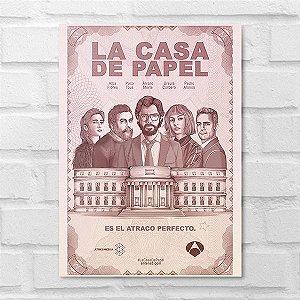 Placa Decorativa - La Casa de Papel Poster