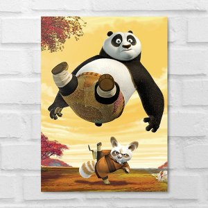 Placa Decorativa - Kung Fu Panda