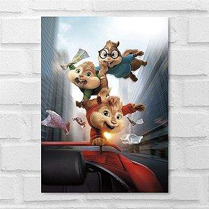 Placa Decorativa - Alvin e os Esquilos