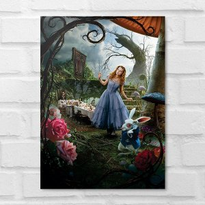 Placa Decorativa - Alice no País das Maravilhas