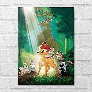 Placa Decorativa - Bambi