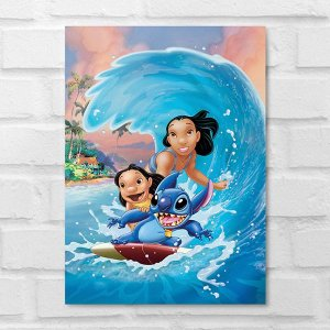 Placa Decorativa - Lilo & Stitch